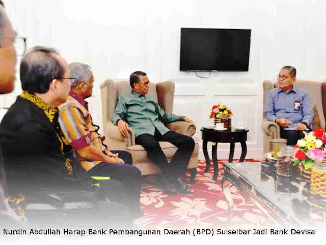Nurdin Abdullah Harap Bank Pembangunan Daerah (BPD) Sulselbar Jadi Bank Devisa