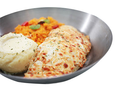 BAKED WHITE FISH WITH MOZZA CHEESE RM 26.95 BUY 1 FREE 1 MAIN COURSE
