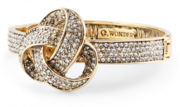 C. Wonder's Pave Forget Me Knot Bangle: $58.00