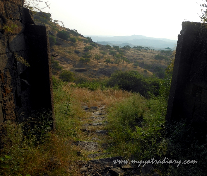 Climbing to the Bhuleshwar Shiva Temple near Yavat, Pune