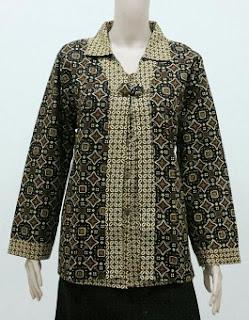 Koleksi Model Baju Batik Kerja Guru Lengan Panjang