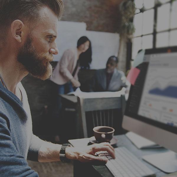 Marketing pro using analytics dashboard