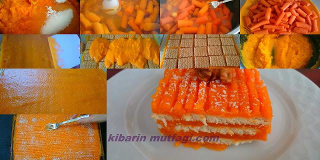 Bisküvili havuç tatlısı tarifi havuçlu rüya tatlısı nasıl yapılır resimli anlatım
