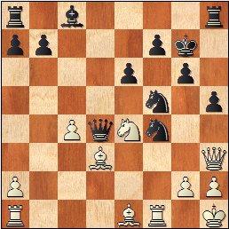 Partida de ajedrez Antoni Puget - J. Marimón, 1959, posición después de 25…Cxf4?
