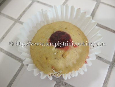 Carrot Muffins with Raspberry Jam Filling