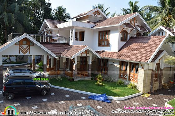 finished modern house in Calicut, Kerala