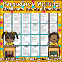 https://www.teacherspayteachers.com/Product/Persuasive-Writing-Classroom-Job-Applications-273053