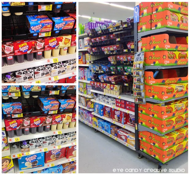 snack pack, snackpack, pudding cup, pudding cups, walmart display of snack pack pudding
