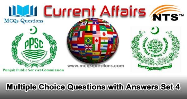 Current Affairs MCQs Set 4