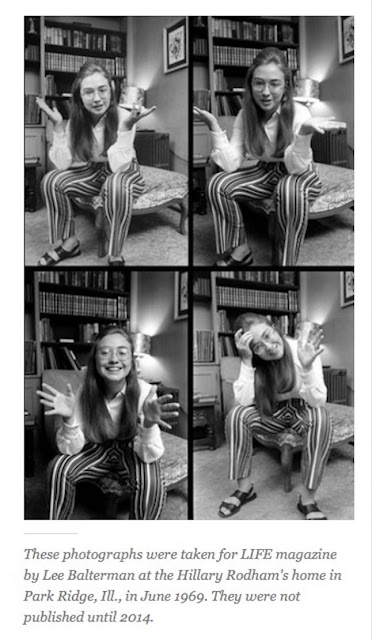 Hillary Rodham Clinton learning to pose for the camera - 1969