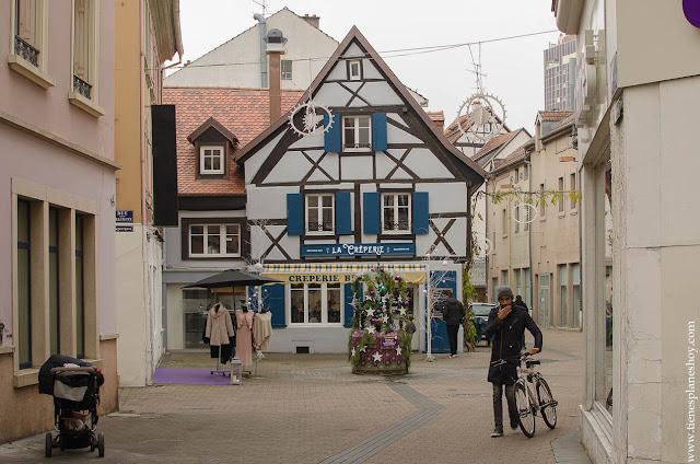 Calle Mulhouse Alsacia Francia