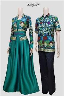Gamis Batik Kombinasi Bolero