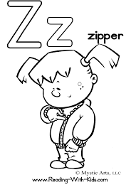 Letter Z Coloring Page 5
