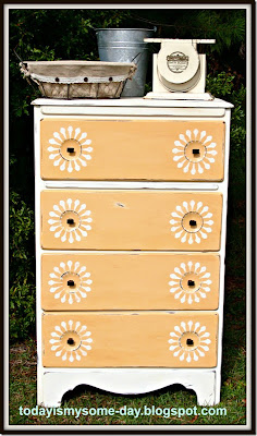 Yellow Sunburst Dresser