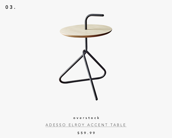 5 UNDER $70: Modern Accent Tables | adesso elroy accent table