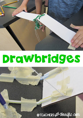 STEM Challenge: The main materials will include unsharpened pencils! Can you build a drawbridge that works? Check this blog post!