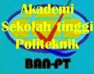 Akreditasi Ban-pt akademi sekolah tinggi di Indonesia