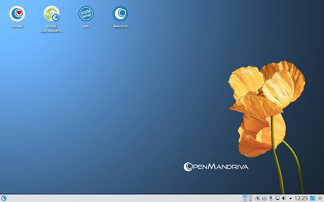 OpenMandriva Lx 3.01 em execução