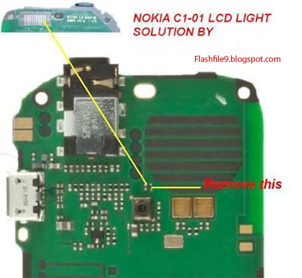 This post i will share with you How to solve your Nokia C1-01 Mobile phone display light is not working after change light