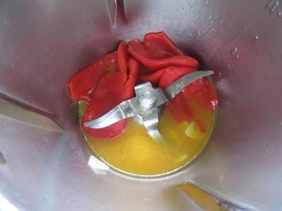 Mousse de bacalao y pimientos Thermomix