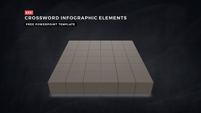 Crossword Puzzles Infographic Elements for PowerPoint Templates with Dark Background Slide 5