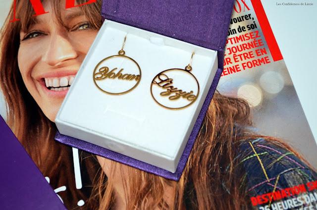 bijoux - bijoux personnalisés - boucles d'oreilles - bracelet - bijou unique - bijou prénom - mode - tendance - tendance personnalisation - personnalisation