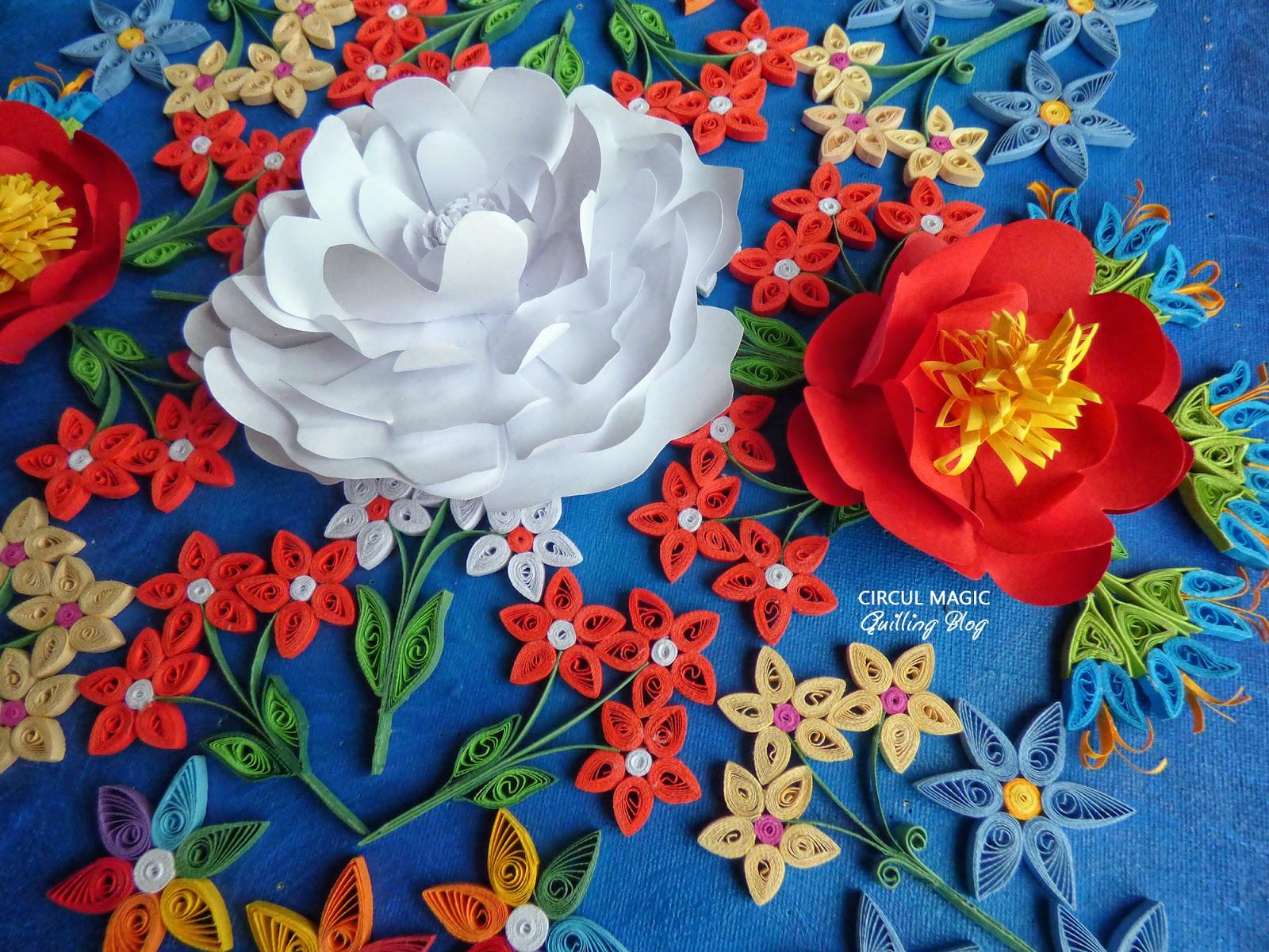 Circul Magic Mandala Quilling: Florile Paradisului