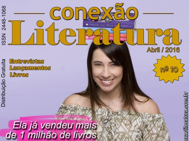 Capa Revista Conexão Literatura Autora Paula Pimenta