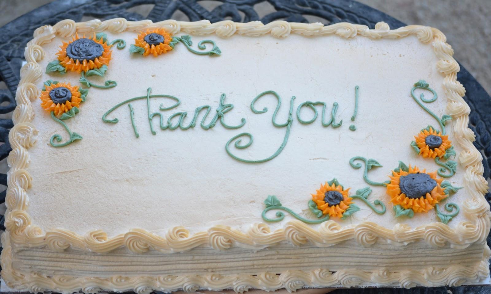 Traylor Made Treats Thank You Sheet Cake