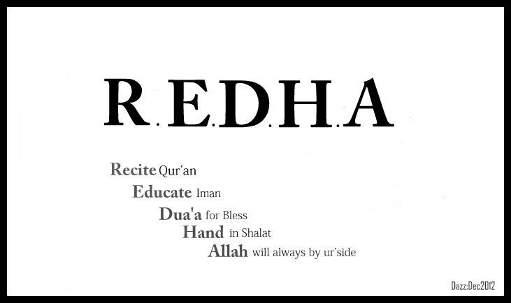 REDHALAH ATAS SEGALANYA
