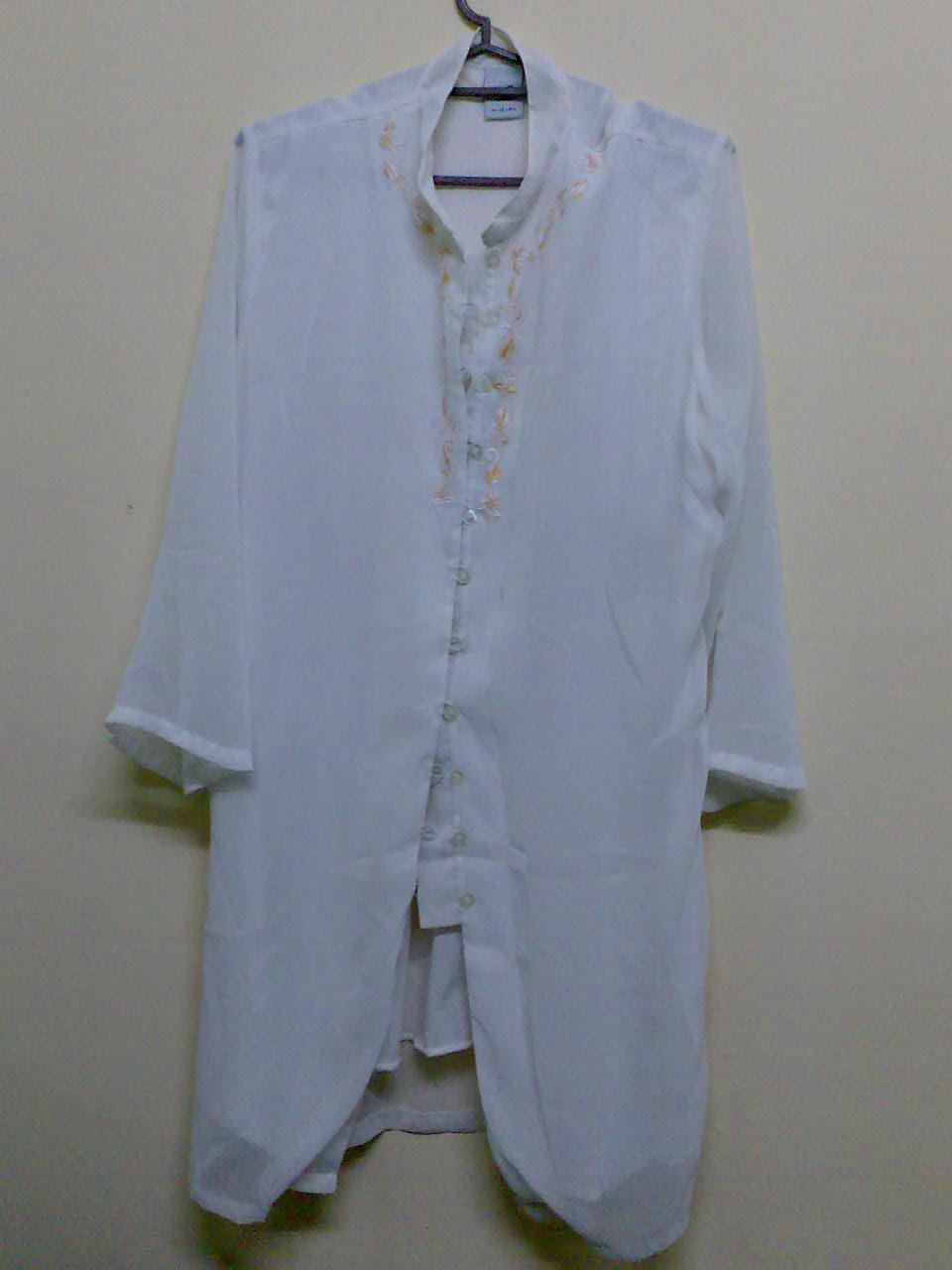 Baju Second Hand Murah Blouse Shiffon Putih