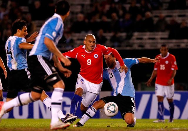 Argentina y Chile en Clasificatorias a Brasil 2014, 7 de octubre de 2011
