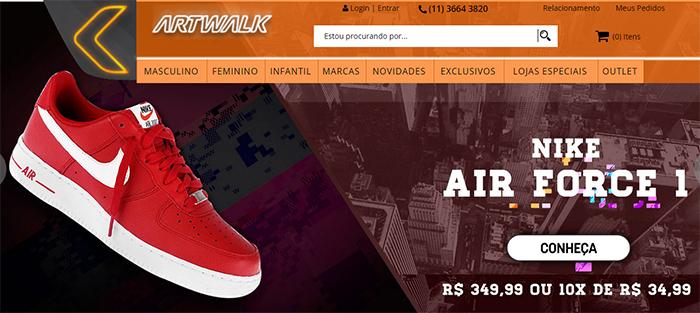 low priced b3965 bcd89 Além de sua Loja Virtual, a Artwalk possui lojas físicas em Ruas e  Shoppings de várias cidades do Brasil. Tem Linha bem grande da Nike, Adidas  Originals, ...