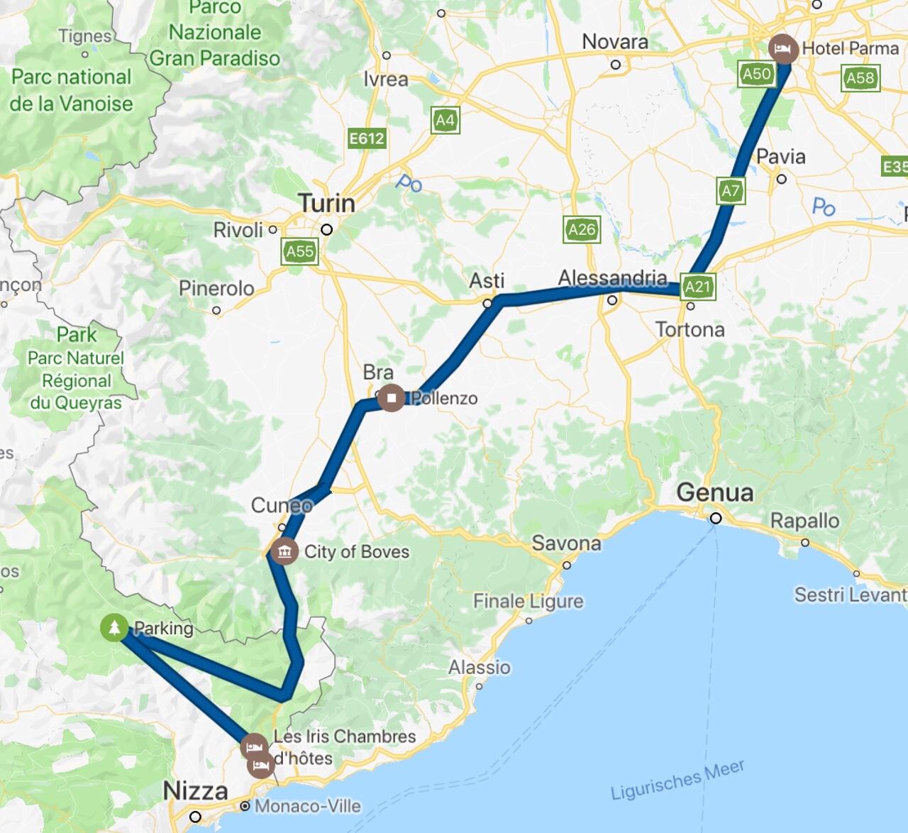 Karte Italien Frankreich.Italien Frankreich Auf Dem Weg