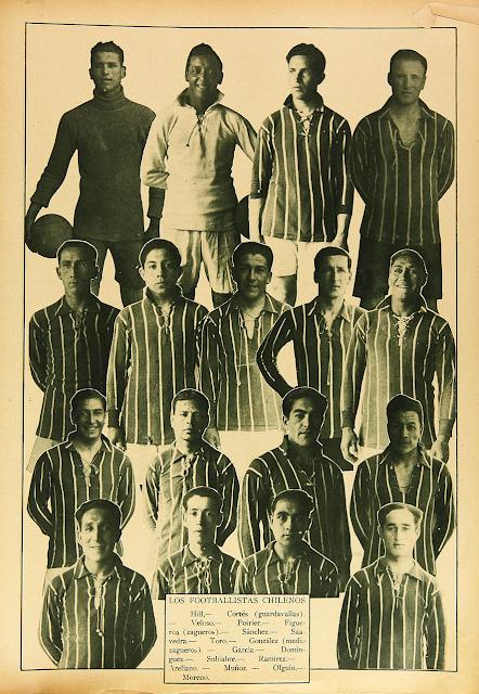 Plantel de Chile en Campeonato Sudamericano de 1926