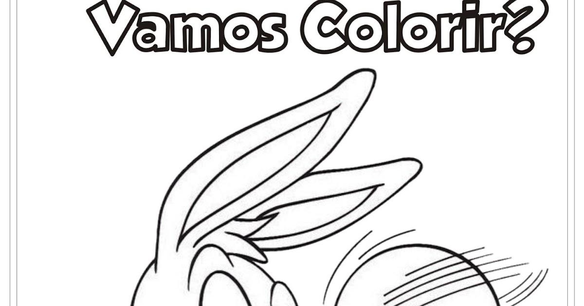 Desenho Pernalonga Baby Para Colorir