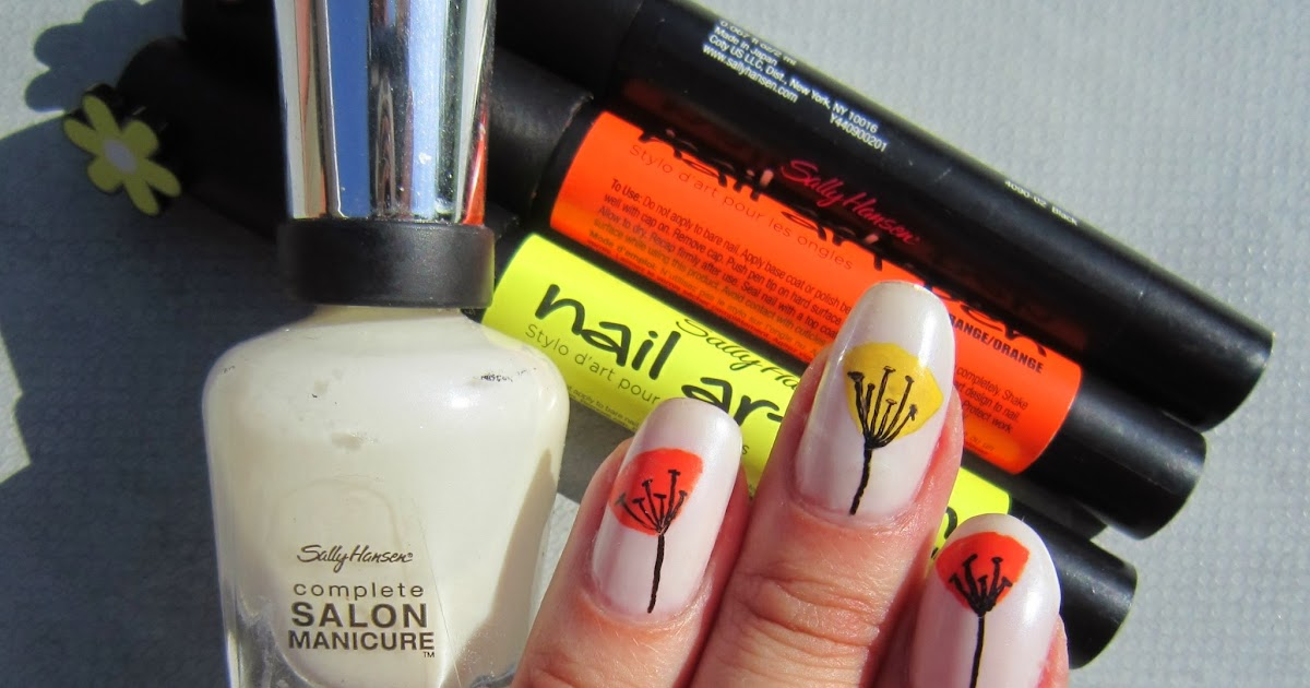 Concrete And Nail Polish Simple Floral Nail Art With Sally Hansen