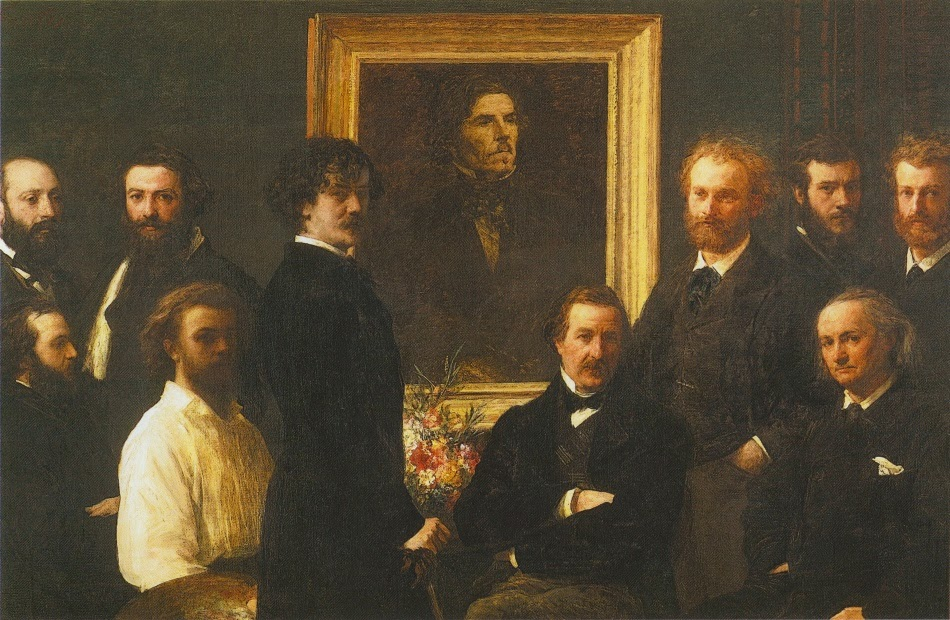 Homenagem à Delacroix - Henri Fantin-Latour - Suas melhores pinturas ~ francês