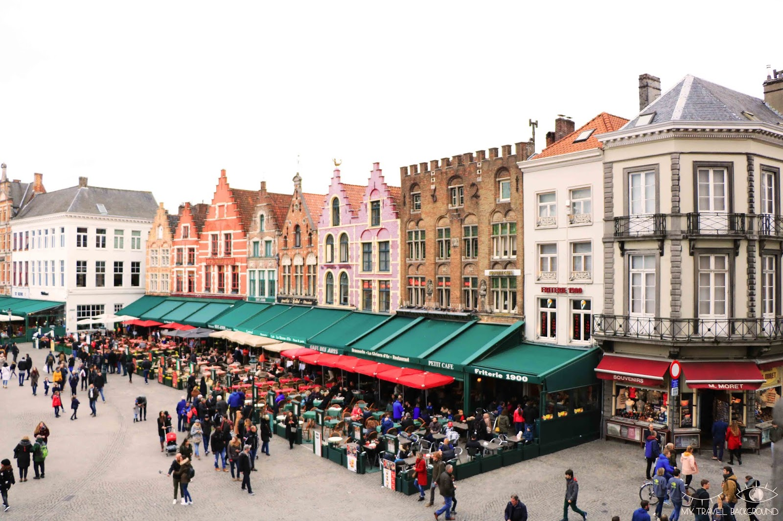 My Travel Background : Cartes Postale Belgique - Bruges et Gand