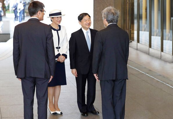 Emperor Naruhito and Empress Masako attend the opening ceremony of the IEEE International Geoscience and Remote Sensing Symposium 2019