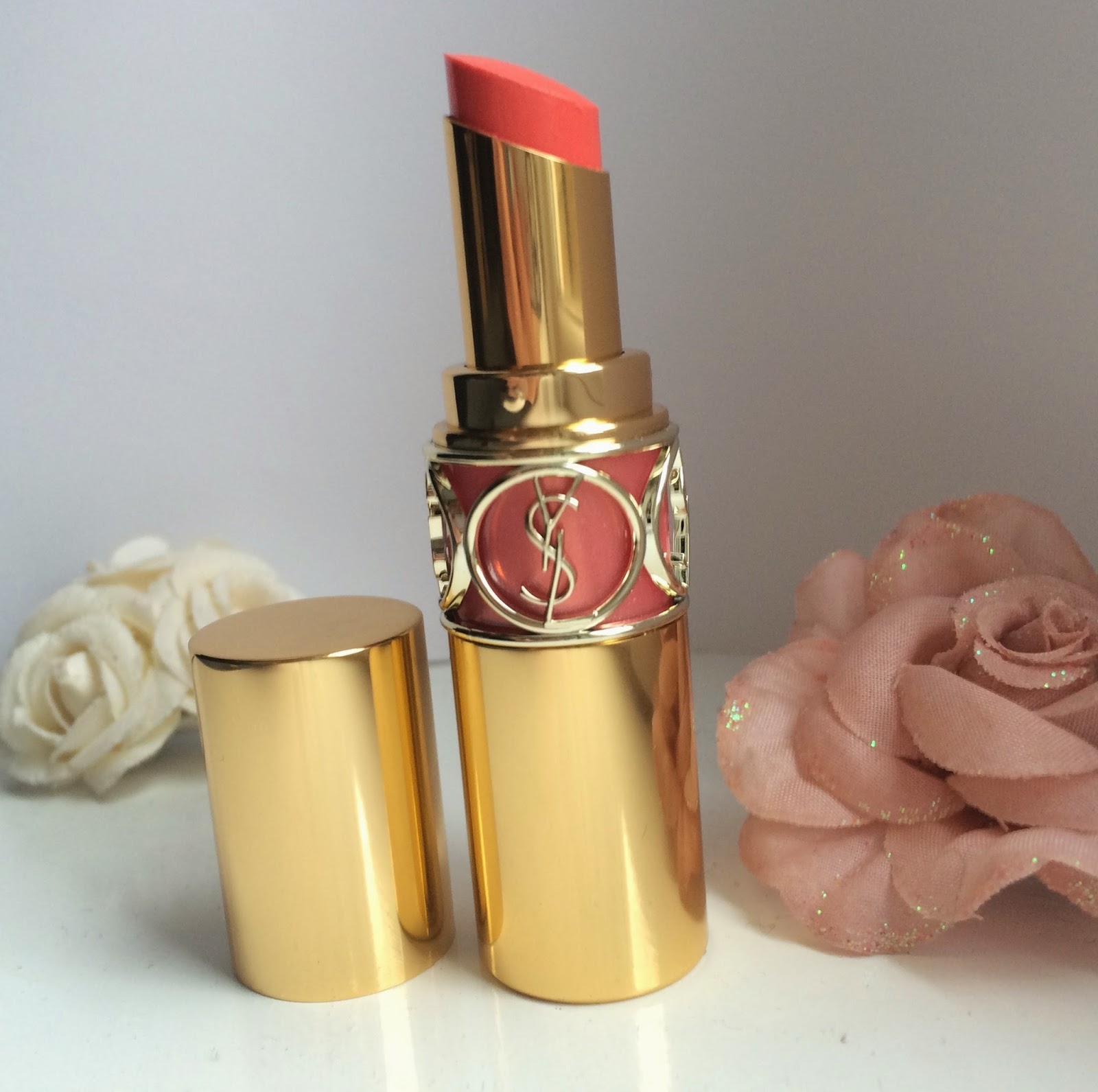 ysl-Rouge-Volupte-Shine-lipstick-15-Corail-Intuitive-review