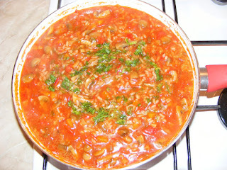 retete orez cu legume si ciuperci la tigaie de post, retete de post, mancaruri cu legume, preparate de post, retete culinare,