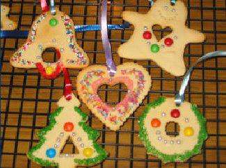Sugar cookie ornaments 1