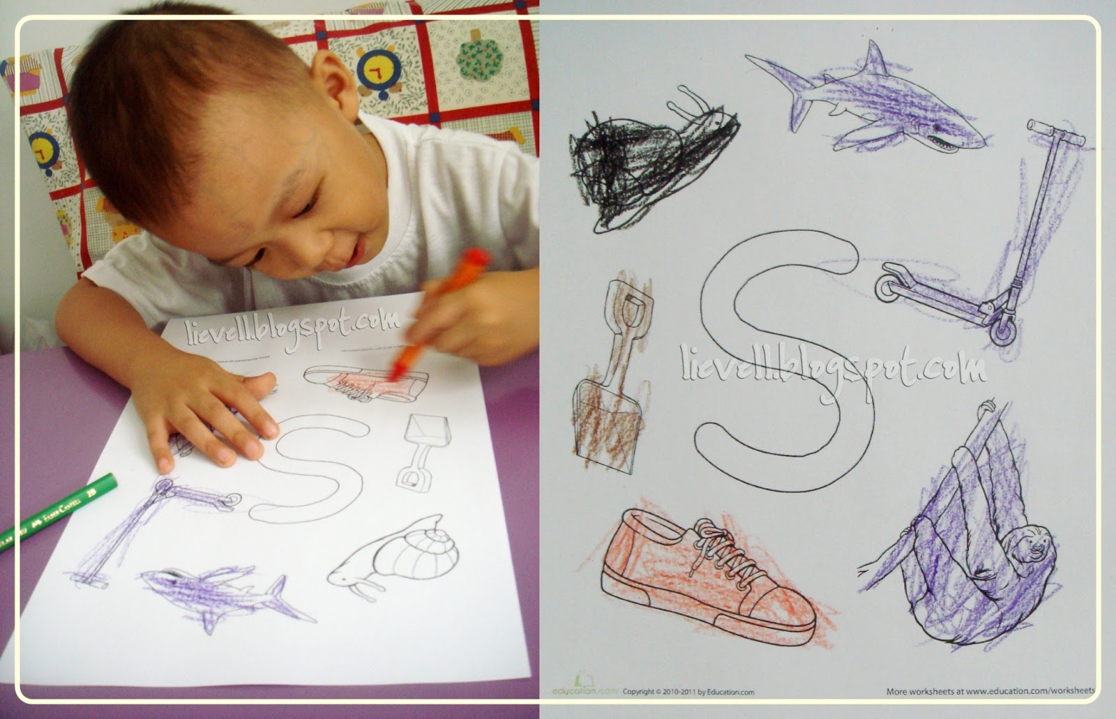 Preschool Letter S And Solar System