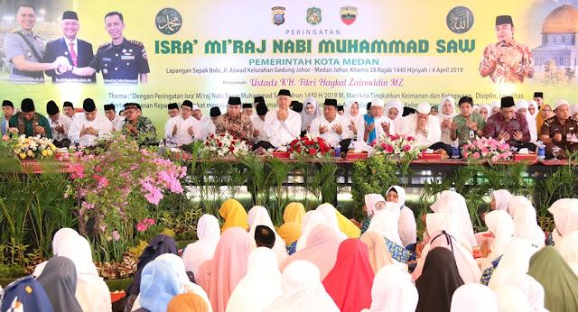 Wali Kota Medan Peringati Israk Mi'raj Jaga Kualitas Shalat