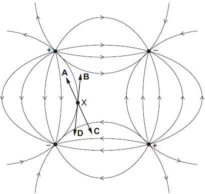 The Diagram Shows An Electric Field Pattern Caused By Two Positive