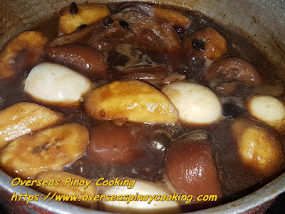 Humba Pork Pata with Saba - Cooking Procedure