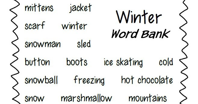 Smiling and Shining in Second Grade: Winter Writing Paper