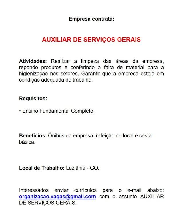 Auxiliar de Serviços Gerais - Auxiliar de Produção