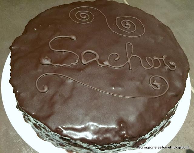sacher senza glutine e senza latticini (sacher torte gluten free and dairyfree)